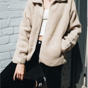 Brandy Melville Willow Shearling Jacket in Tan